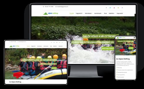 Alpes Rafting Kft számára weboldal készítés