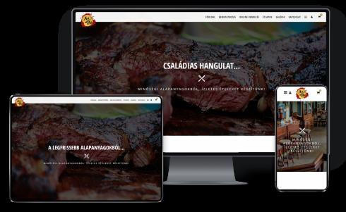 Online éttermi webáruház