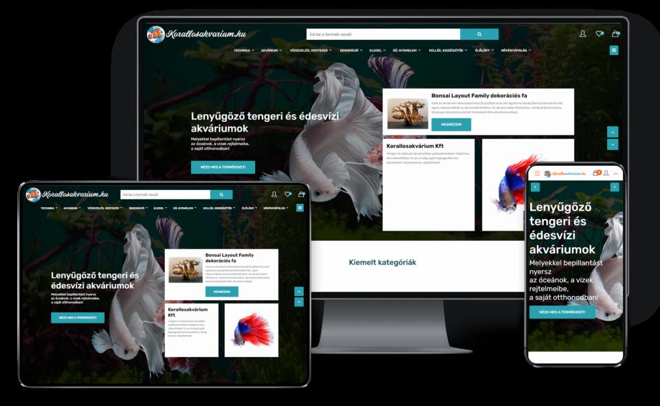 Krallosakvárim Kft részére készítettünk webáruházat