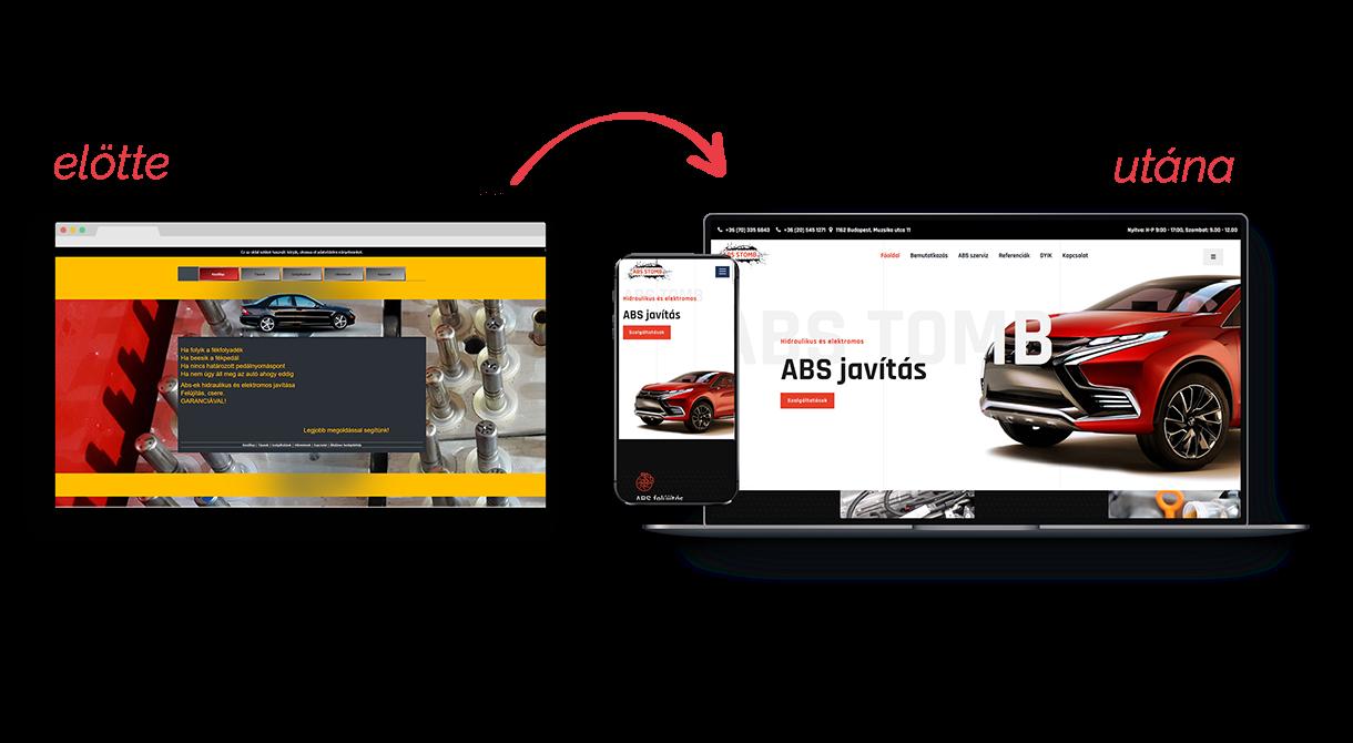 Régi, elavult weboldalak helyett, új sikeres honlapokat készítünk