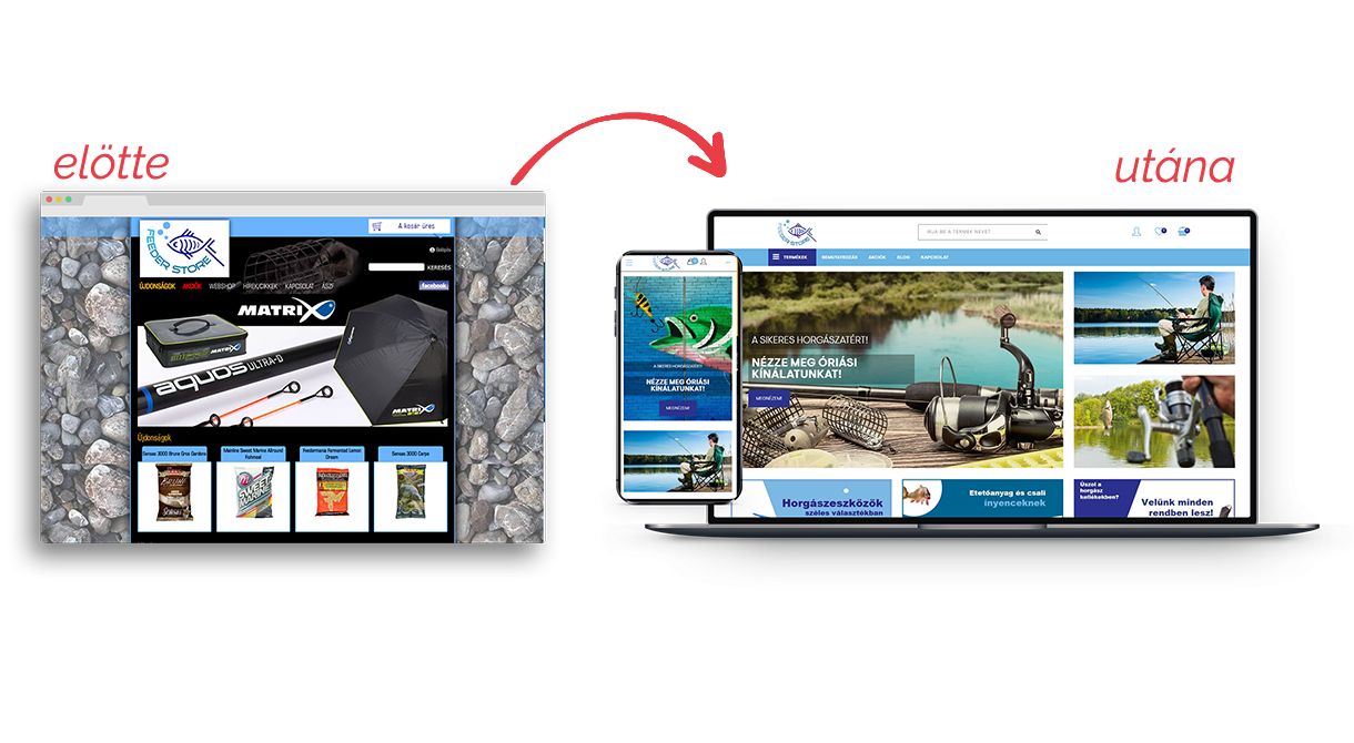 Feederstore webáruház átalakítása