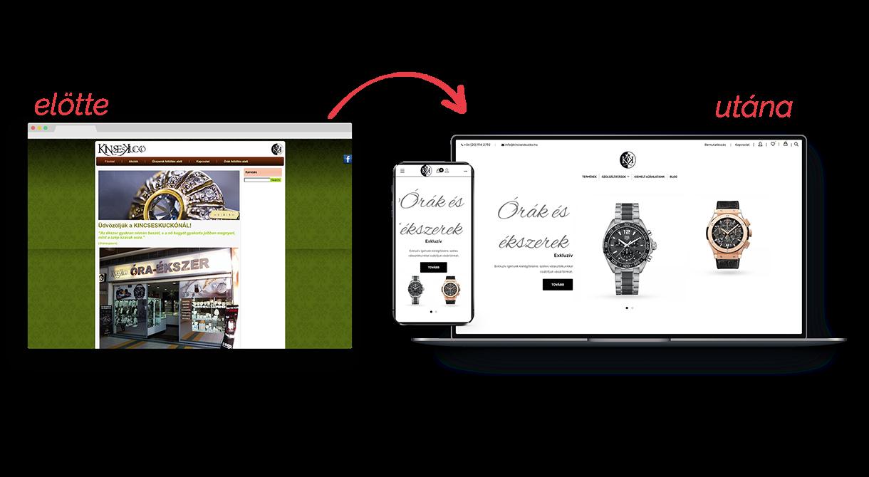 Kincseskuckó webáruház készítés