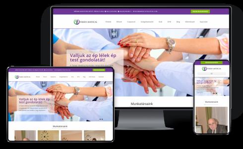 Orvosi weboldal készítés