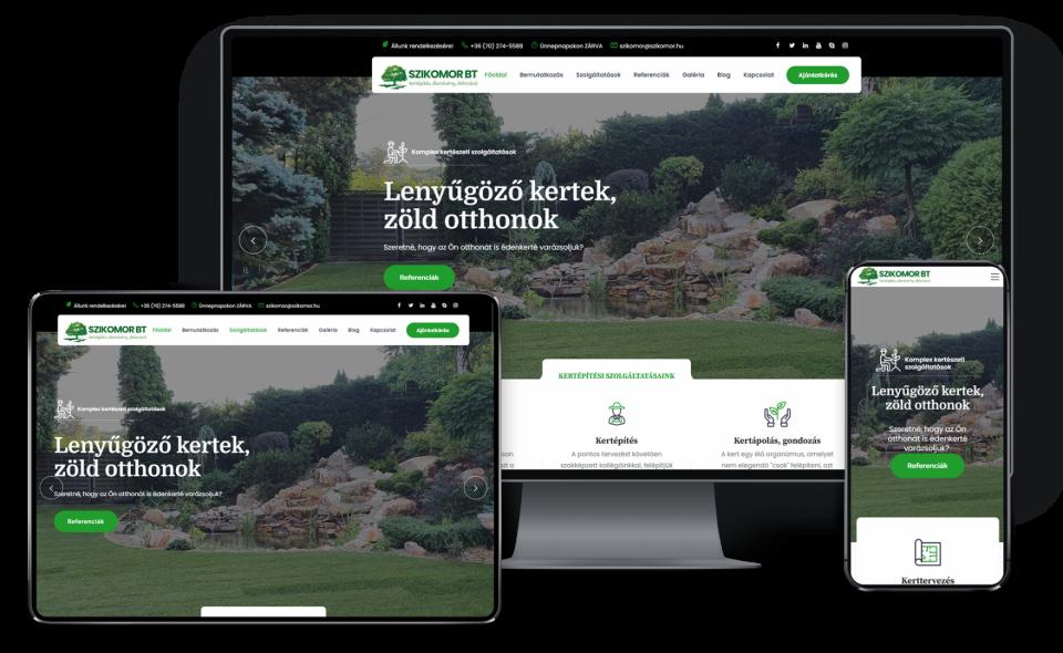 Kertészeti weboldal készítés