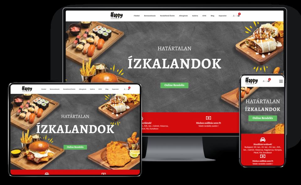 Éttermi webáruház készítés